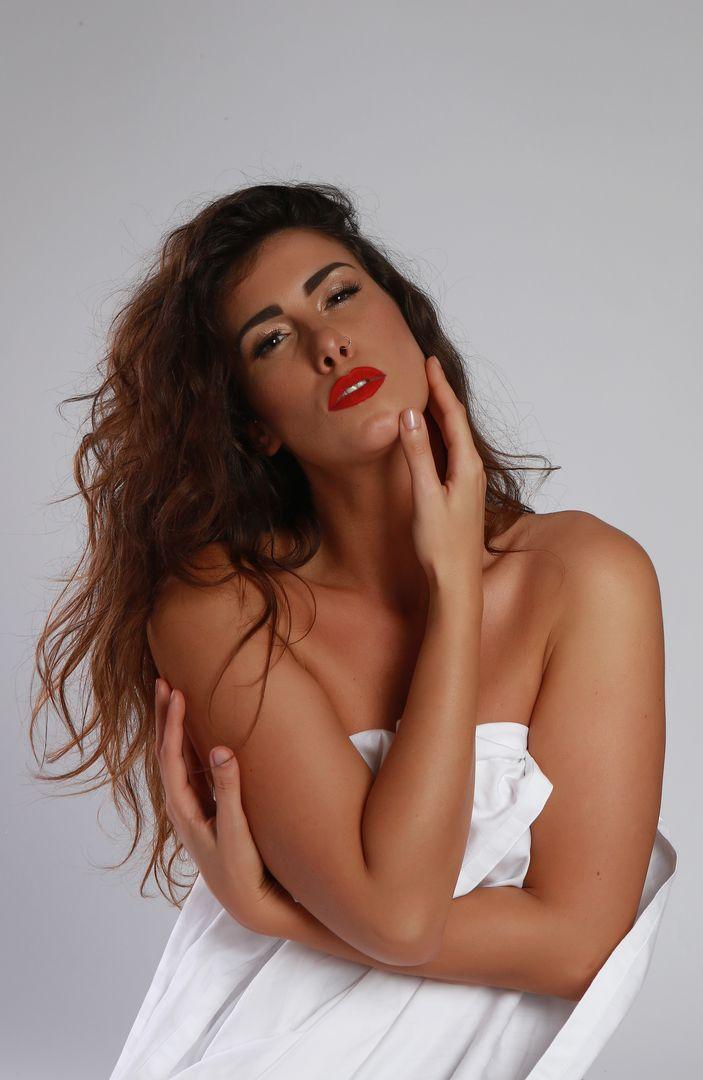 Glamour fehérneműs fotózás
